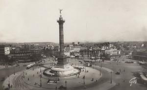 Une superbe vue de la place de la Bastille, dans les années 1930.