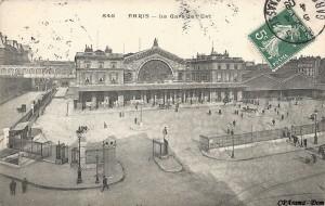 L'entrée de la Gare de l'Est.