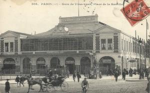 L'ancienne gare de la place de la Bastille.