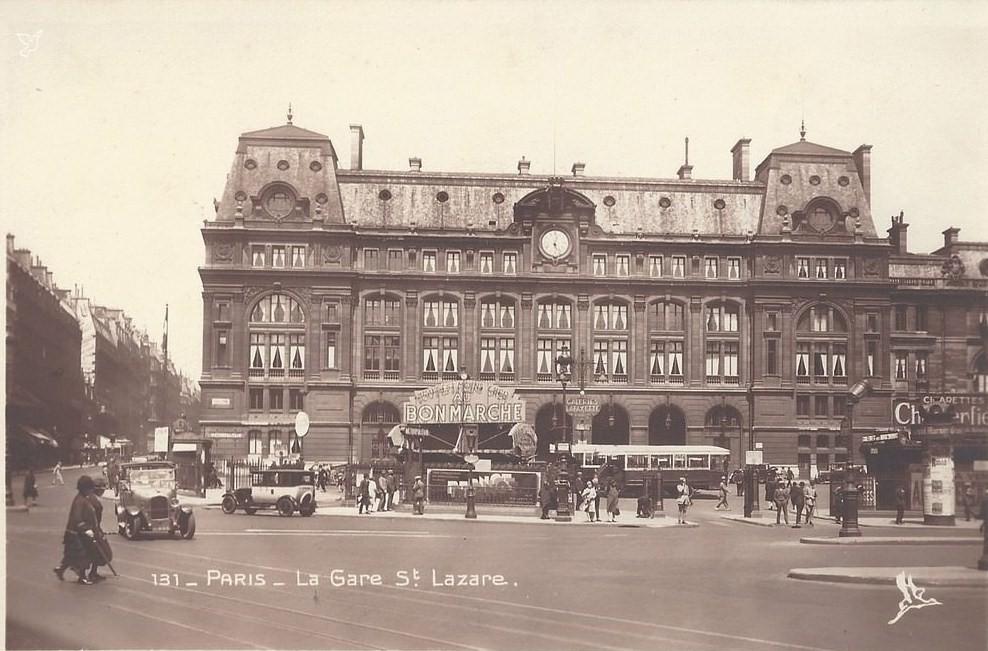 Devant la Gare Saint-Lazare... saintlazare-annees-30
