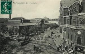 Les Halles et l'église Saint-Eustache