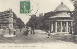 L'entrée du Parc [de] Monceau (8ème).