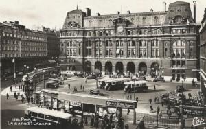 La gare Saint-Lazare dans les année 1930…