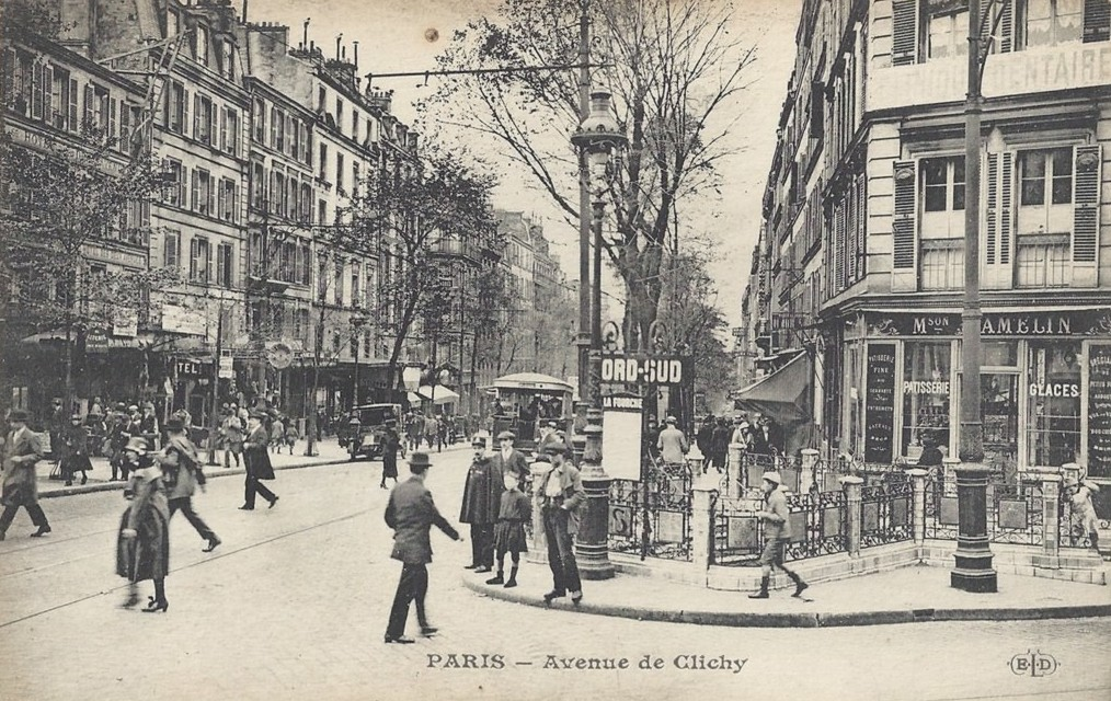 1364392873-carte-postale-avenue-de-clichy-paris 18ème arrondissement