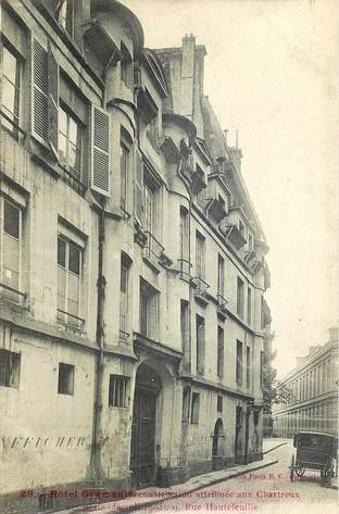 Au 9, rue Hautefeuille (6ème). hotel-gramault-9-hautefeuille.-demoli-en-1905