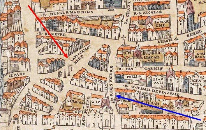 Plan de Truschet et Hoyau-Circa 1550